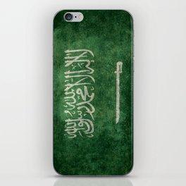 Flag of  Kingdom of Saudi Arabia - Vintage version iPhone Skin