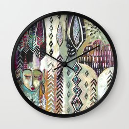 """Bright Night"" Original Painting by Flora Bowley Wall Clock"