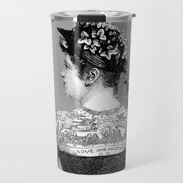 Tattooed Victorian Woman Travel Mug