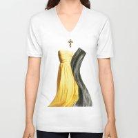 lesbian V-neck T-shirts featuring Wedding dream. Lesbian thing by al bruzzone