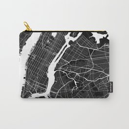 New York - Minimalist City Map Carry-All Pouch