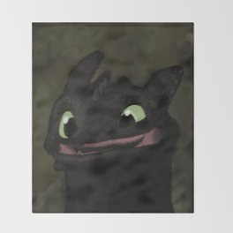 Toothless Grin Throw Blanket