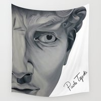 david fleck Wall Tapestries featuring David by Paola Tejeda