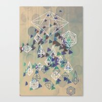 crystals Canvas Prints featuring crystals by Sil-la Lopez