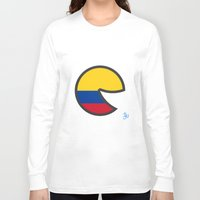 colombia Long Sleeve T-shirts featuring Colombia Smile by onejyoo