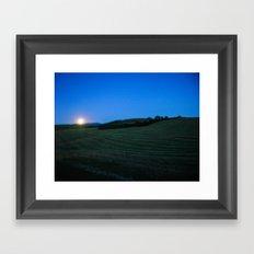 Idaho Moon Framed Art Print