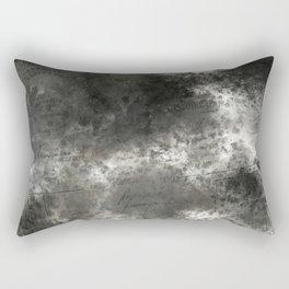 Black grey batic look Rectangular Pillow