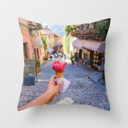 Gelato in Bellagio Throw Pillow