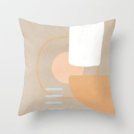 Simple shapes boho minimalist design Throw Pillow