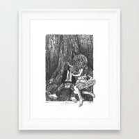 howl Framed Art Prints featuring Howl by Deborah Panesar Illustration
