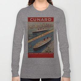 Vintage poster - Cunard Long Sleeve T-shirt