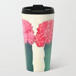 Plaid Cacti Travel Mug