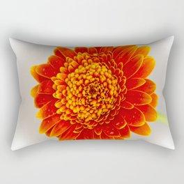Soft Large Orange Gerber Daisy Rectangular Pillow