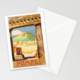 Vintage Pompei Italy Travel Stationery Cards