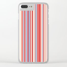 Stripe obsession color mode #3 Clear iPhone Case