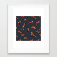 foxes Framed Art Prints featuring Foxes by Katelyn Patton