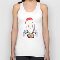 chihiro Tank Tops featuring Kaonashi's trap! by Puddingshades