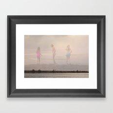 Beach Innocence Framed Art Print