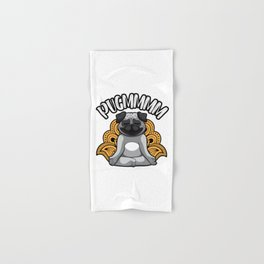 Pugmmmm - Yoga Pug Meditates Like A Dog Hand & Bath Towel