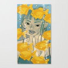 GOLDFISH MEMORY Canvas Print