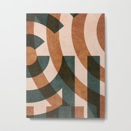 ABSTRACT ALPHABET / Decorative G Metal Print