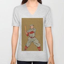 Baseball player by Edward Penfield Unisex V-Neck