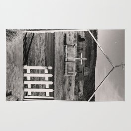 Gateway to San Jose Black and White Photo Rug
