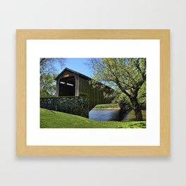 Hunsecker's Mill Covered Bridge Framed Art Print