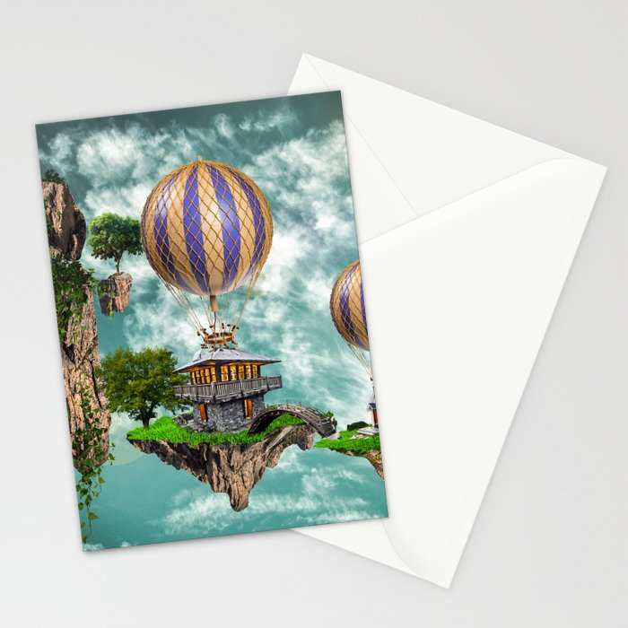 Balloon House Stationery Cards