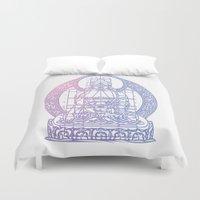 sacred geometry Duvet Covers featuring Sacred Geometry 2 by Hazel Bellhop