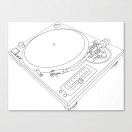 Technics Turn Table Canvas Print