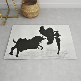 Bulls and bullfighters of Picasso I Rug