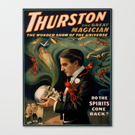 Vintage poster - Thurston the Magician Canvas Print