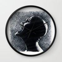 scream Wall Clocks featuring Scream by Matthäus Rojek