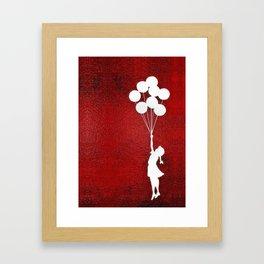 Banksy the balloons Girls silhouette Framed Art Print