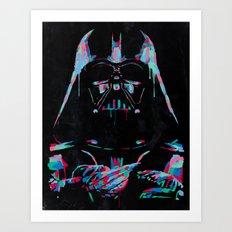 Neon Vader Art Print