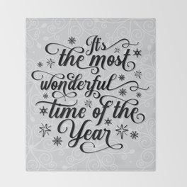 The Most Wonderful Time Of The Year Throw Blanket