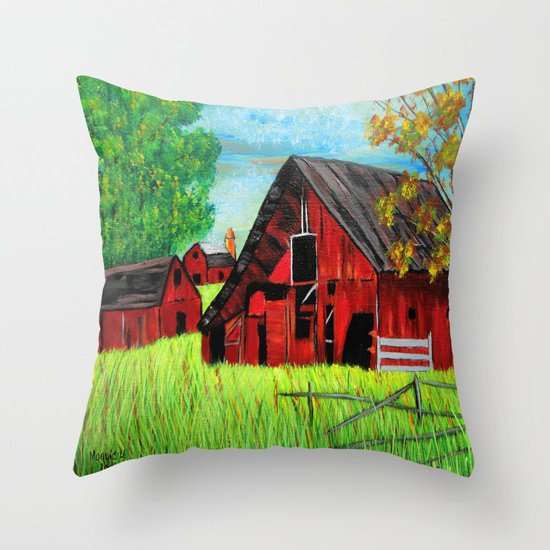 Old Farm 2 Throw Pillow