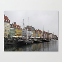 copenhagen Canvas Prints featuring Copenhagen by constarlation