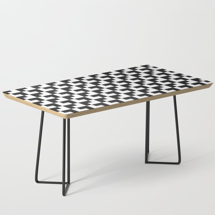 Black and White Tessellation Pattern - Graphic Design Coffee Table