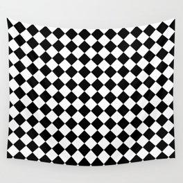 schwarz weiß kariert 2 Wall Tapestry