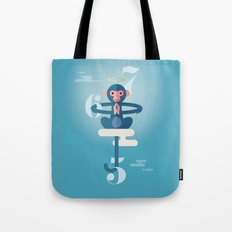 Monkey Gone to Heaven Tote Bag