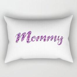 Mommy - Purple Glitter Rectangular Pillow