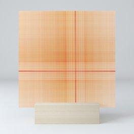 Scottish plaid tartan pattern Mini Art Print