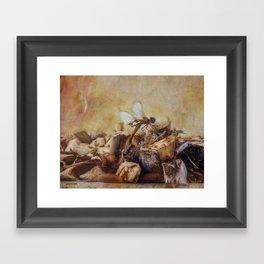 Respite of the Mosquito Hawk Framed Art Print