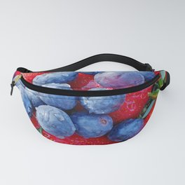 starwberries and blueberries Fanny Pack