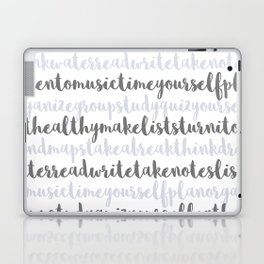 Friendly Study Reminders and Tips Laptop & iPad Skin