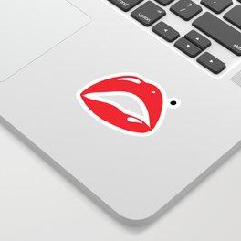 Sexy Lipstick Lips Kissing With A Beauty Spot Sticker