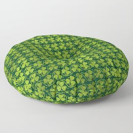Irish Shamrock -Clover Green Glitter pattern Floor Pillow