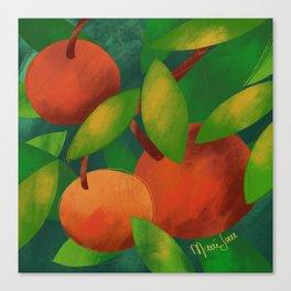 Tangerine Love Canvas Print